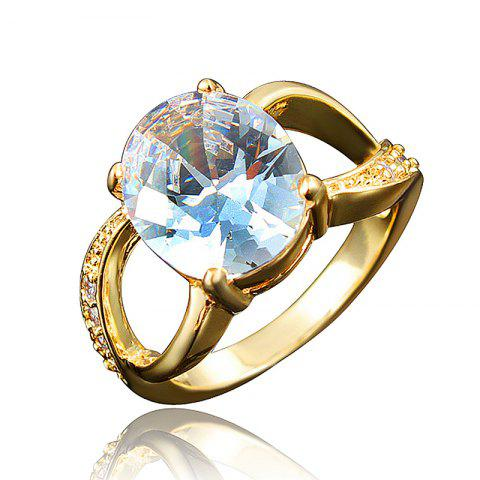 18K Gold Plated Exquisite Ring For Women Birthday Wedding And Anniversary Gift - multicolor G US 7