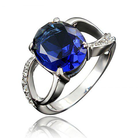 18K Gold Plated Exquisite Ring For Women Birthday Wedding And Anniversary Gift - multicolor B US 7