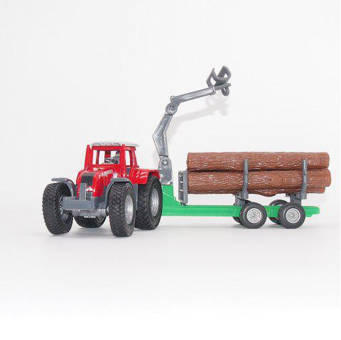Dy-No30-11 Children Model High Simulation Engineering Transport Vehicle - RED