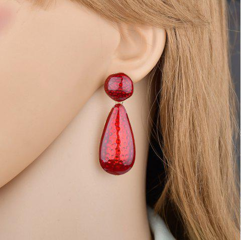 Exaggerated Personality Red Drop Pendant Earrings - RED 1 PAIR