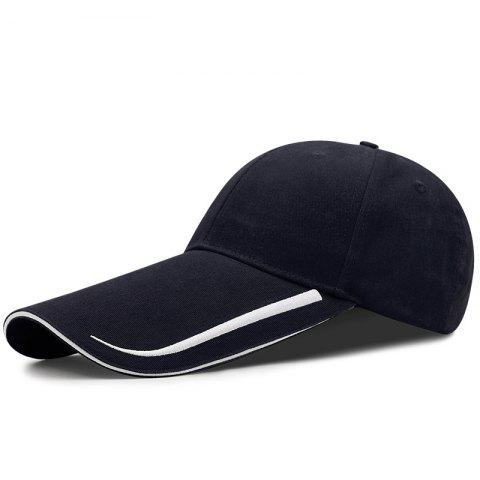 Long Hat Visor Baseball Cap + Adjustable 56-59cm - CADETBLUE