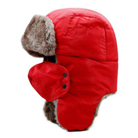 Northeast Thick Warm Lei Feng Cap + Code 58CM Head Circumference - RED