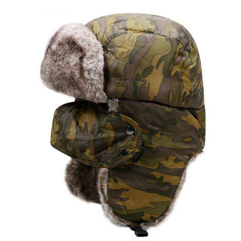 Northeast Thick Warm Lei Feng Cap + Code 58CM Head Circumference - WOODLAND CAMOUFLAGE