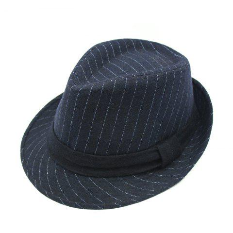 Hat Autumn and Winter Warm Hat Woolen Top Hat + Code 56-58CM Head Circumference - DEEP BLUE