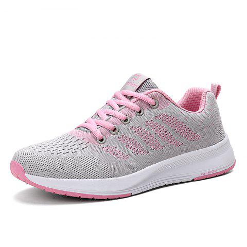 Women'S Sneakers Lightweight Flying Surface Breathable Running Shoes - PINK EU 38