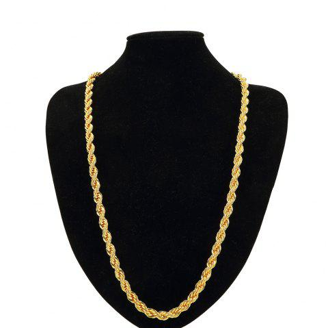 NYUK 0.9cm Thick Men'S Gold-Plated Twist Necklace Ornaments - GOLD
