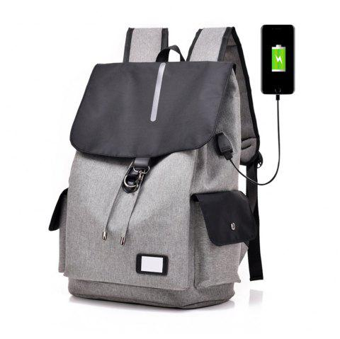 New Oxford Men'S Business Computer Bag Leisure Bag Travel Backpack - DARK GRAY