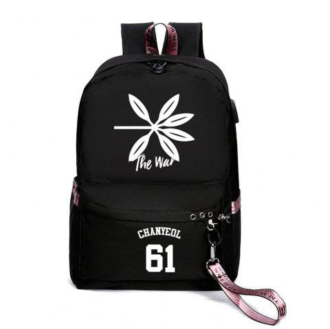 Same Style Casual Women'S College Wind Canvas Backpack - multicolor J