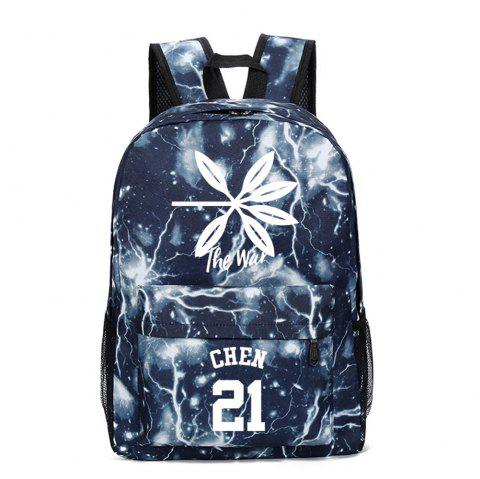 2019 Print Star Schoolbag for Students Stylish Schoolbag Style Backpack - multicolor G