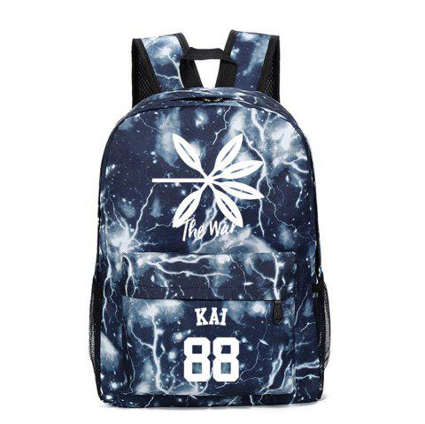 2019 Print Star Schoolbag for Students Stylish Schoolbag Style Backpack - multicolor E