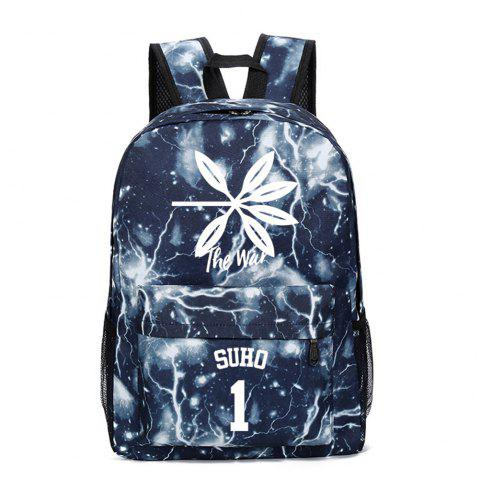 2019 Print Star Schoolbag for Students Stylish Schoolbag Style Backpack - multicolor A
