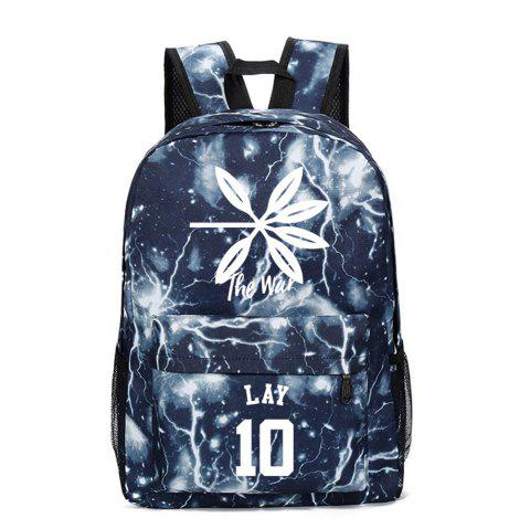 2019 Print Star Schoolbag for Students Stylish Schoolbag Style Backpack - multicolor B