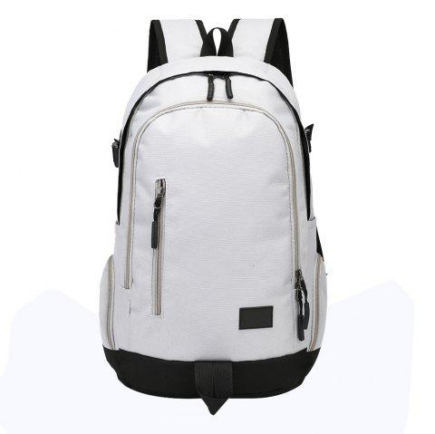 Men and Women Oxford Multi-Function Computer Travel Backpack Fashion Backpack - LIGHT GRAY