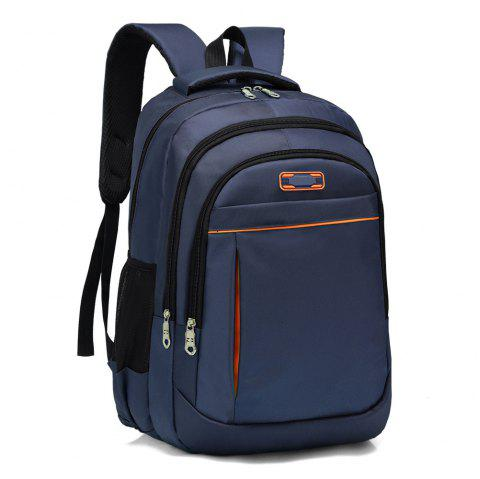 Breathable Wear-Resistant Waterproof Backpack Large Capacity Computer Bag - DARK SLATE BLUE