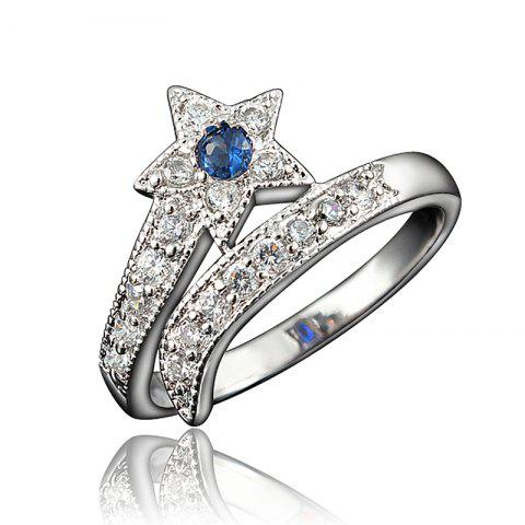 Top Quality 18K Gold Plated Rings For Women Star-Shaped Jewelry Ring for Wedding - multicolor B US 9