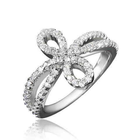 Elegant Charm Ring for Women Wedding Jewelry High Quality Lover Girlfriend Gift - SILVER US 9