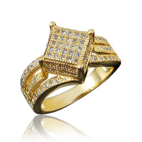 Rings For Women 18K Gold Plated Jewelry Wedding Ring Anniversary Gift - GOLD US 6