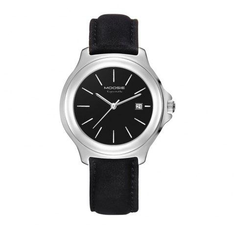 MOOSIE 2191G Unisex Business Casual Quartz Watch With Waterproof - BLACK 1PC