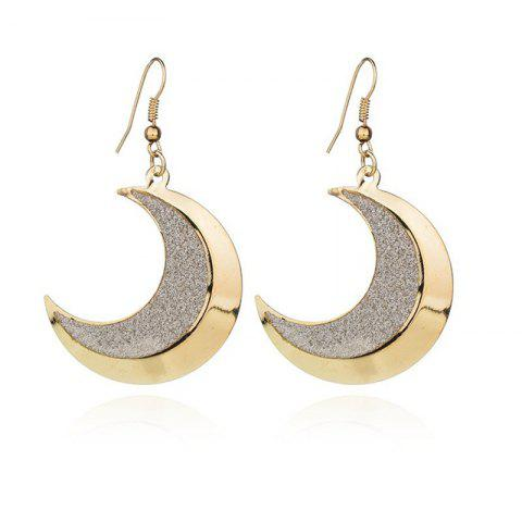 Simple Lady Temperament Moontooth Frosted Earrings - GOLD