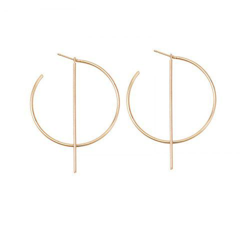 Leisure Wind Lady's Alloy Round Earrings - GOLD