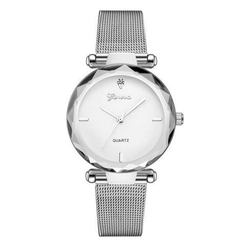 GENEVA Women Simple  Fashionable Stainless Steel Quartz Watch - multicolor F