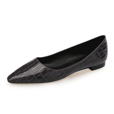 European Style Pointed Shallow Mouth Flat Heel Women'S Shoes - LIGHT GRAY EU 35