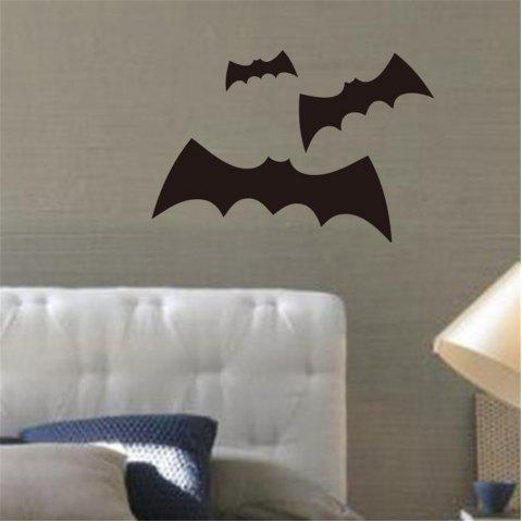 Three Bats Wall Stickers For Living Room Background Decoration Black 39 57cm