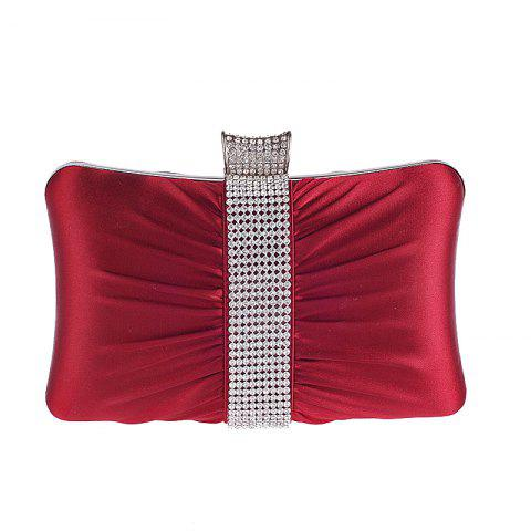 Classic Set Auger Dinner Bag Hand Bag Pillow Type Small Package - RED WINE