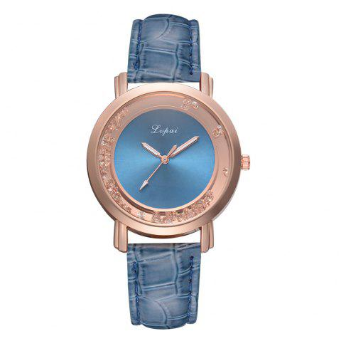Women Fashion Quicksand Wrist Watch Quartz Watch - BLUE