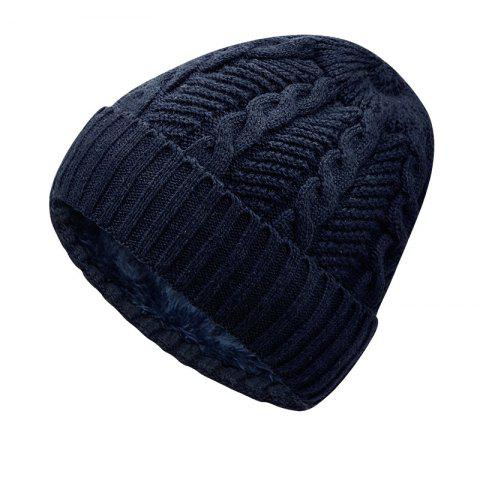 Warm Cap and Plush Wool Cap + Size Code for 56-60CM Head Circumference - DEEP BLUE