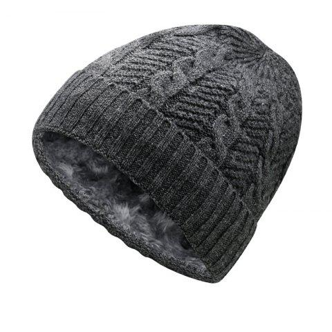 Warm Cap and Plush Wool Cap + Size Code for 56-60CM Head Circumference - DARK GRAY