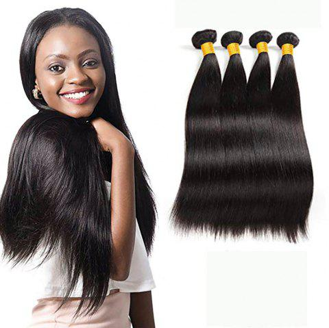 Brazilian Straight Human Hair 4 Bundles Stright Hair Extensions 50g/Bundle - NATURAL BLACK 26INCH X 26INCH X 26INCH X 26INCH