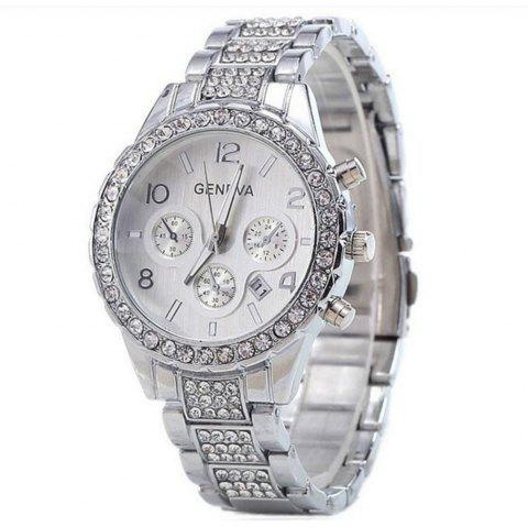 GENEVA Montre Femme Tendance Diamant Alliage Diamant Tendance Tendance - multicolor A