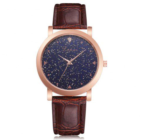 Neutral Romantic Star Fashion Quartz Watch Dress Watch - BROWN