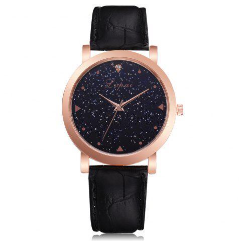 Neutral Romantic Star Fashion Quartz Watch Dress Watch - BLACK