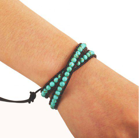 Fashion Creative Turquoise Beads Bracelet - MEDIUM TURQUOISE 1PC