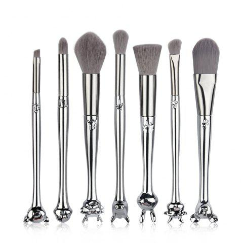 7 Boxes with 12 Zodiac Makeup Brush Set MAG5574 - SILVER