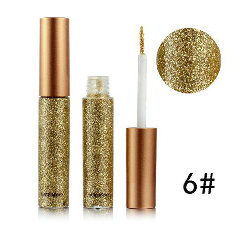 Colorful Shiny Eyeliner Sequined Glittering Eye Shadow - GINGER BROWN