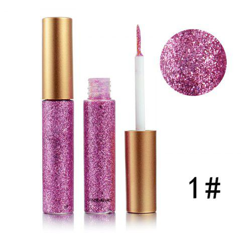 Colorful Shiny Eyeliner Sequined Glittering Eye Shadow - ROSE RED