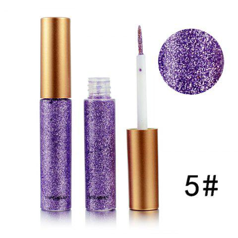 Colorful Shiny Eyeliner Sequined Glittering Eye Shadow - MAUVE