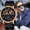 GENEVA Men Luxury Fashion Simple Stainless Steel Quartz Watch - multicolor E