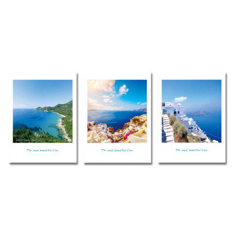 DYC 3PCS Seaside Holiday Landscape Print Art - multicolor