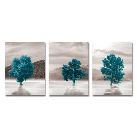 DYC 3PCS Plants and Trees in Water Print Art - multicolor