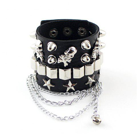 Chain Charms Bangles And Bracelet - BLACK