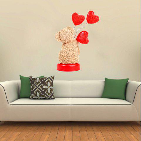 3D Wall Sticker Creative Valentine's Day Love Dog - multicolor