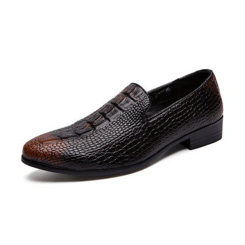 Men'S Spring Casual Leather Shoes - BROWN EU 40