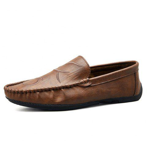 Men'S Summer Style Low-Top Casual Shoes - BROWN EU 39