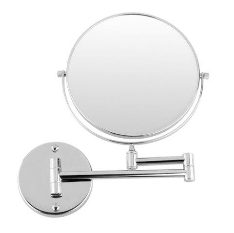 Cosmetic Mirror Double-Sided 3X Magnifying Mirror Bathroom Makeup Mirror - SILVER
