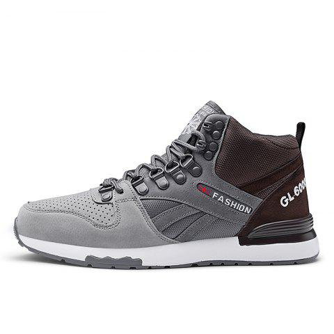 New Fashion Tide Casual Shoes - GRAY EU 43