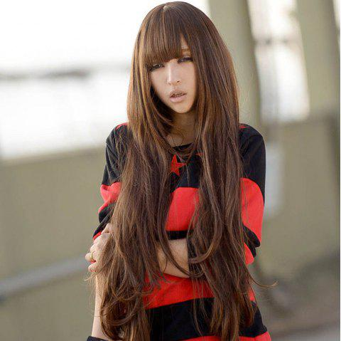 Fashionable and Fluffy Wig with 80 Cm Big Wave - multicolor A 1PC
